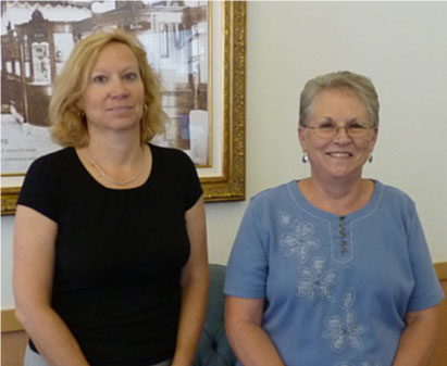 Nancy Hoffman and Norma Nicholas with Smoky Hill Title Company